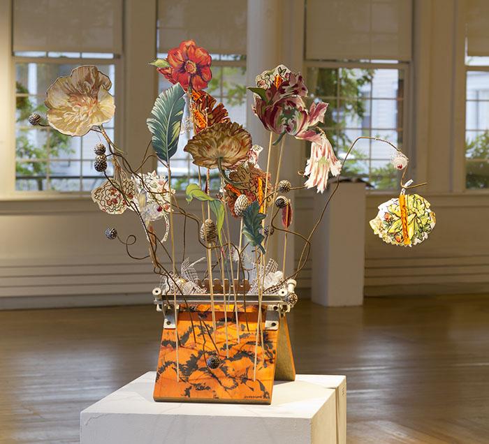 2012, Les Fleurs, mixed media