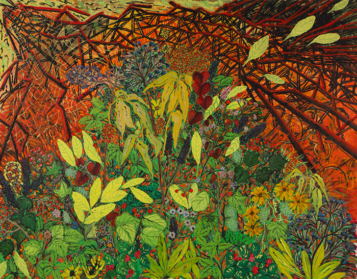 2014, Ohashi Plants, 42x54, oil on canvas